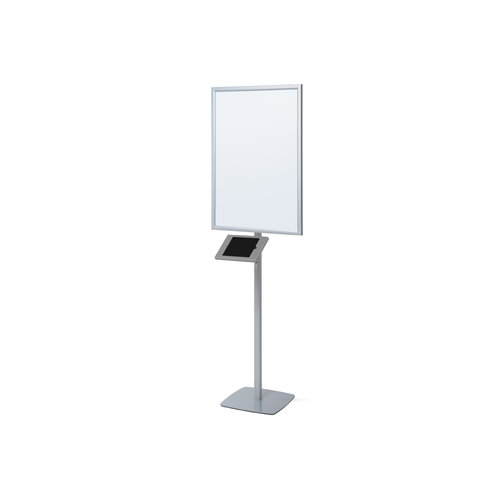 Standaard met A1 LED kliklijst+IPad houder grijs