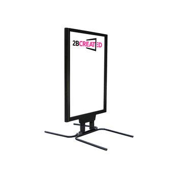 Stoepbord Poster+ Zwart
