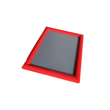 Kliklijst rood 25mm verstek