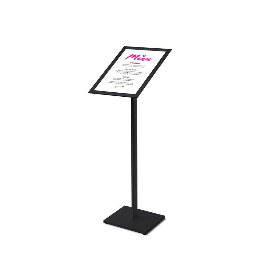 Showroomstandaard met A3 kliklijst zwart