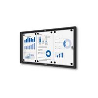 Afsluitbare presentatiekast 3xA4 Zwart binnen gebruik
