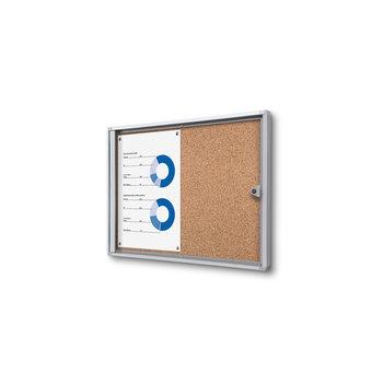 Memo vitrine 2xA4 met kurkbord binnen