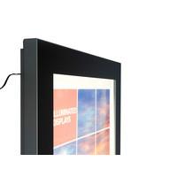 Posterlijst voor buiten LED verlicht 24/7 zwart