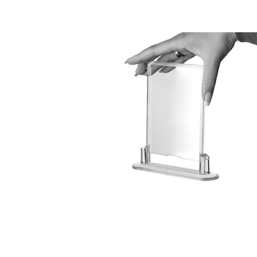 Transparante folderhouder OVAL insert 90x135mm BxH