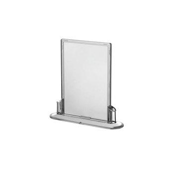 Transparante folderhouder 90x135mm ovaal