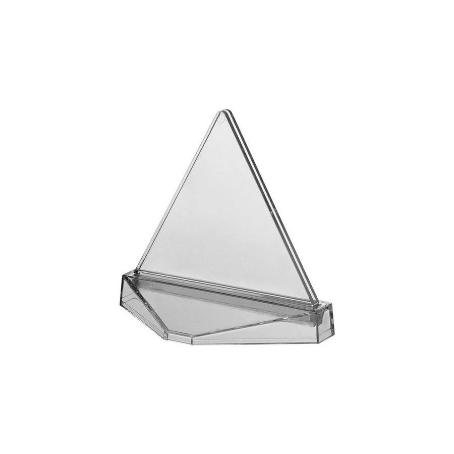 Transparante houder TRIANGLE insert 90x135mm BxH