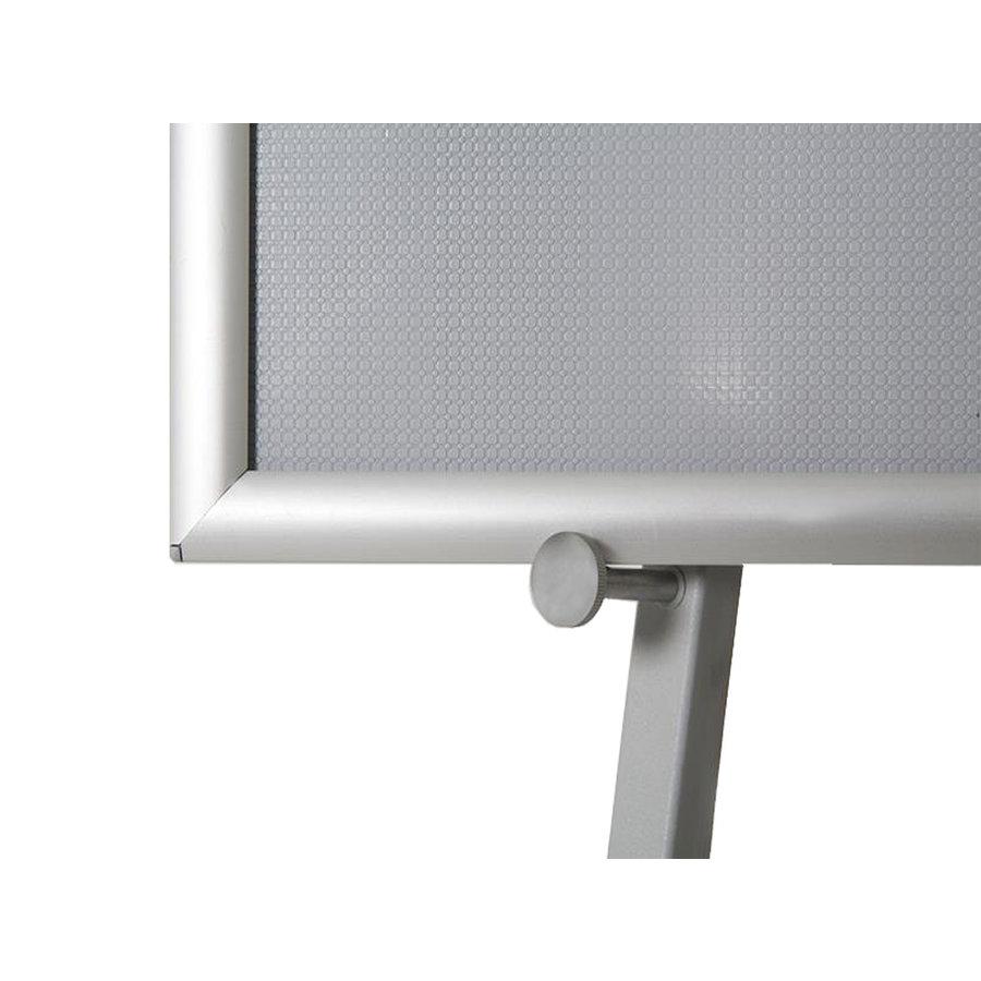 Grijze informatiestandaard inklapbaar Hoogte 150cm
