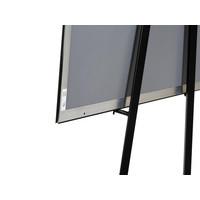 Zwarte informatiestandaard inklapbaar Hoogte 150cm - Copy - Copy