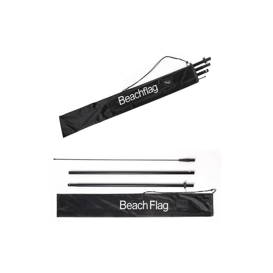 Beachflag OPEN blauw complete set