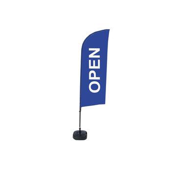 Beachflag OPEN blauw