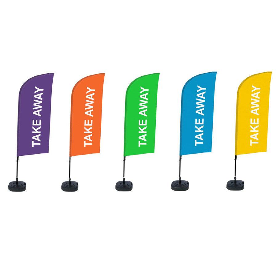Horeca Vlag TAKE AWAY diverse kleuren complete SET