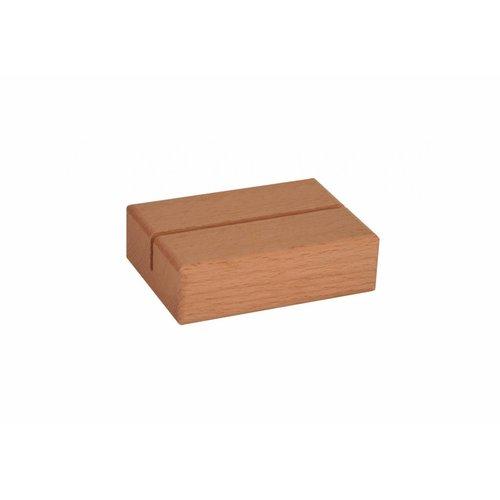 Menukaarthouder houten voet