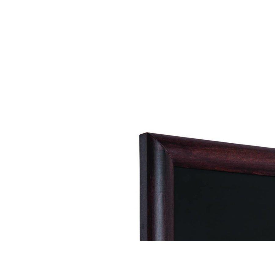 Wandkrijtbord hardhout bol profiel donker bruin