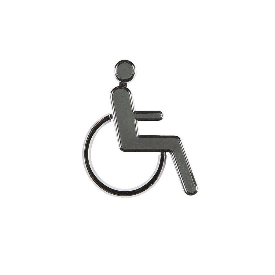 Toilet bord invalide chroom gecoate 3D