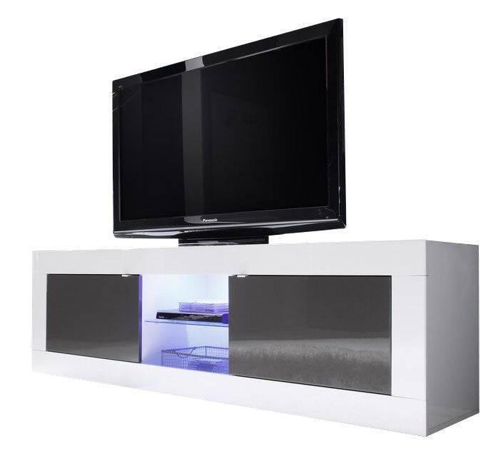 - Benvenuto Design Modena TV meubel Big HG Antraciet+LED