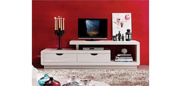 Monaica Crystal TV meubel Hoogglans Wit