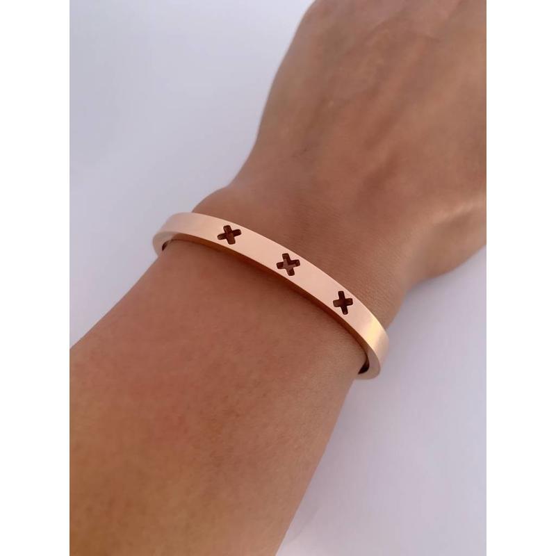 Amsterdam bracelet cuff - rose gold