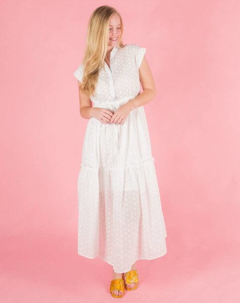 WHITE DAISY MAXIDRESS