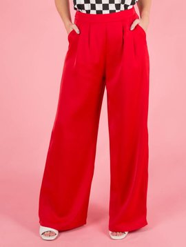 FLARED RED COSTUME PANTS
