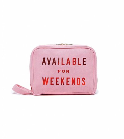AVAILABLE FOR WEEKENDS TOILET BAG