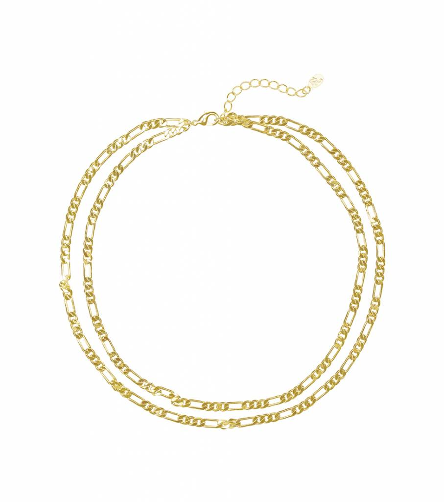 DOUBLE CHAIN GOLD NECKLACE