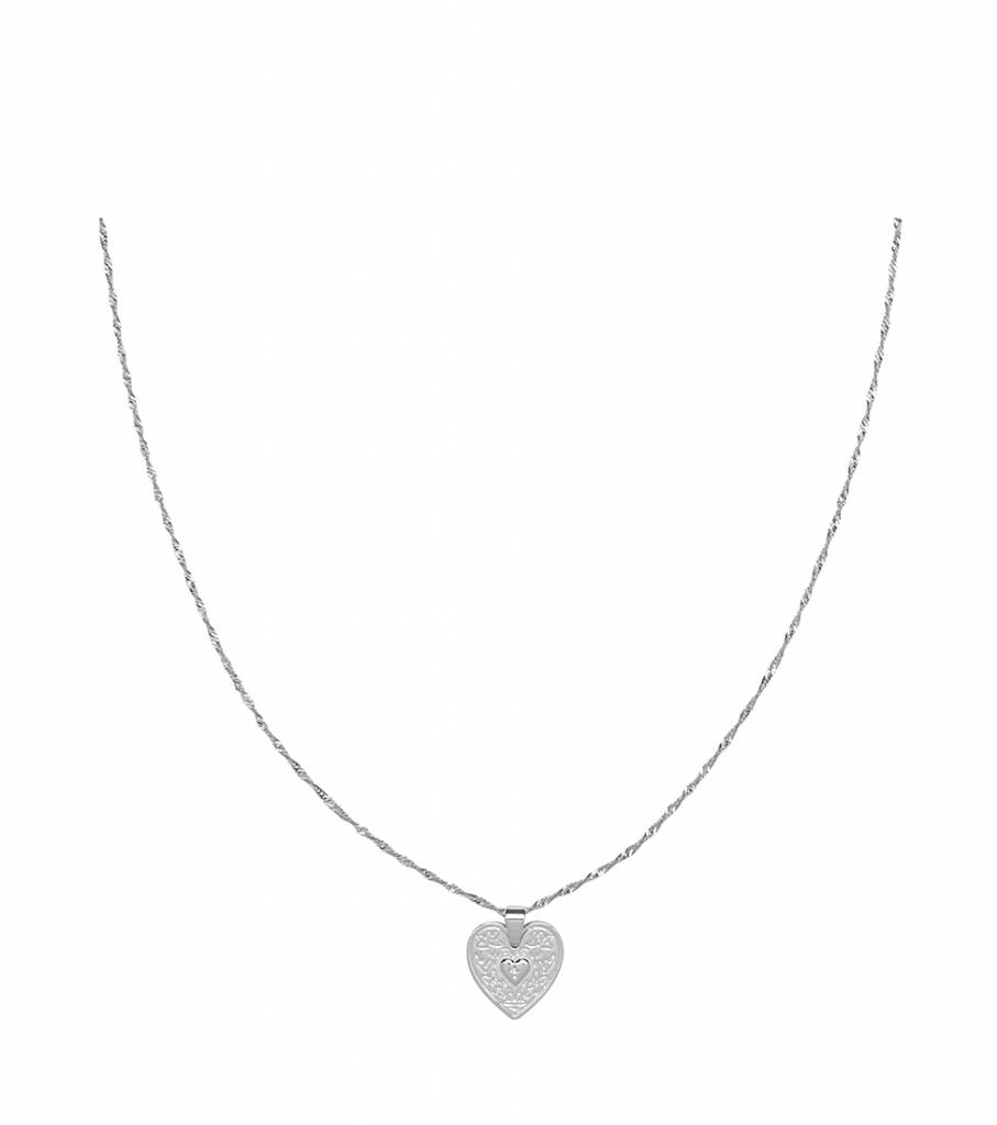 LOCKED IN LOVE SILVER NECKLACE