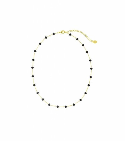 MORE PEARLS NECKLACE BLACK