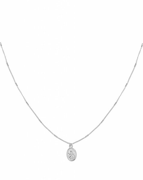 HOLY MARY SILVER NECKLACE