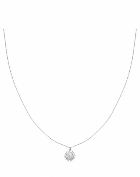 SMILING SUN SILVER NECKLACE