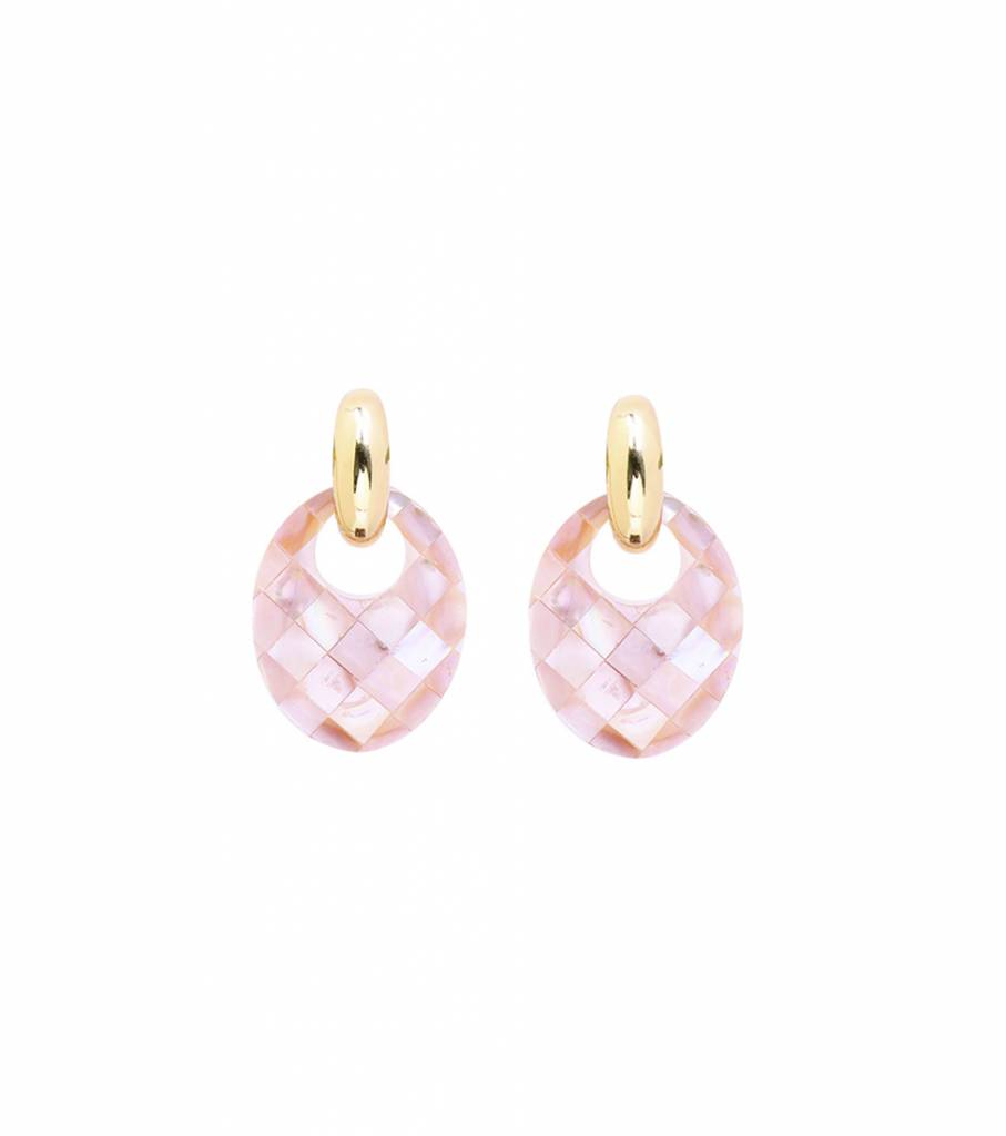 STYLISH SHELL PINK EARRINGS