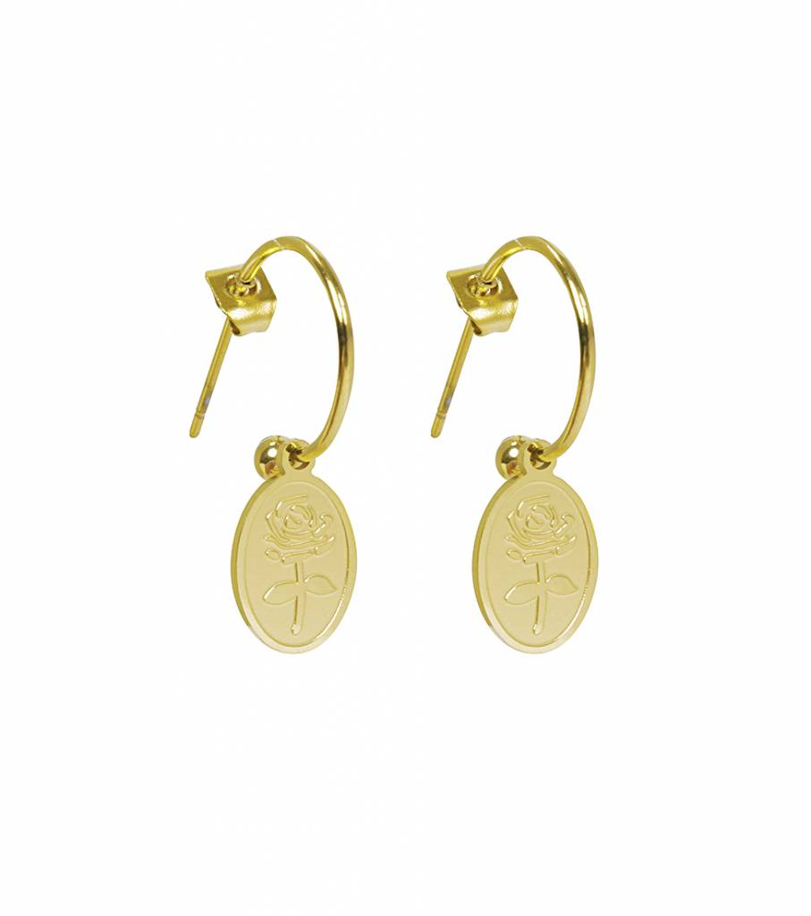 THE OVAL ROSE GOLD EARRINGS