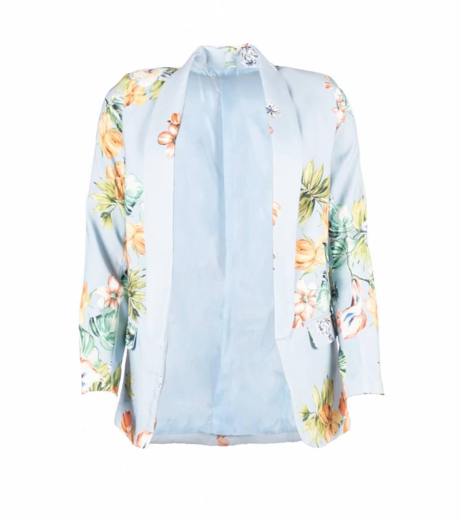 BLUE FLOWER COSTUME BLAZER