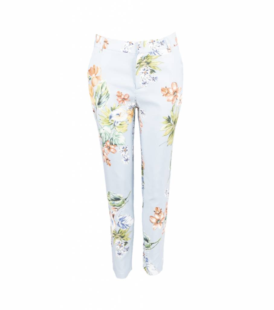 BLUE FLOWER COSTUME TROUSERS