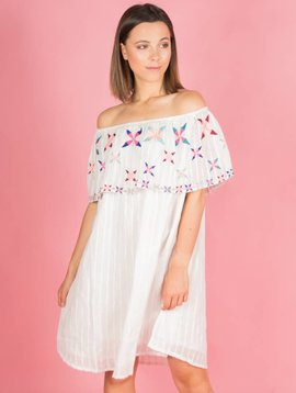 COLOURED TRIANGLE BOHO DRESS