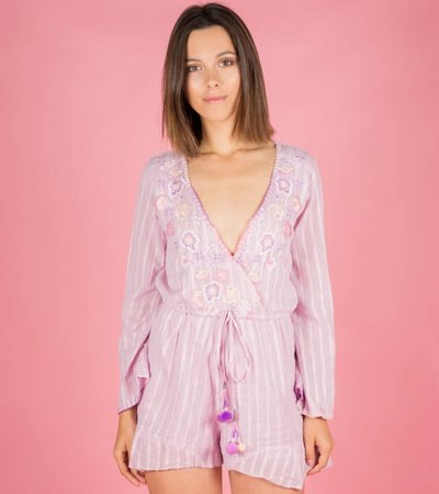 THE BRIGHTEST PLAYSUIT LILA