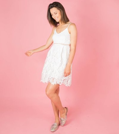 WHITE DREAMY LACE PLAYSUIT