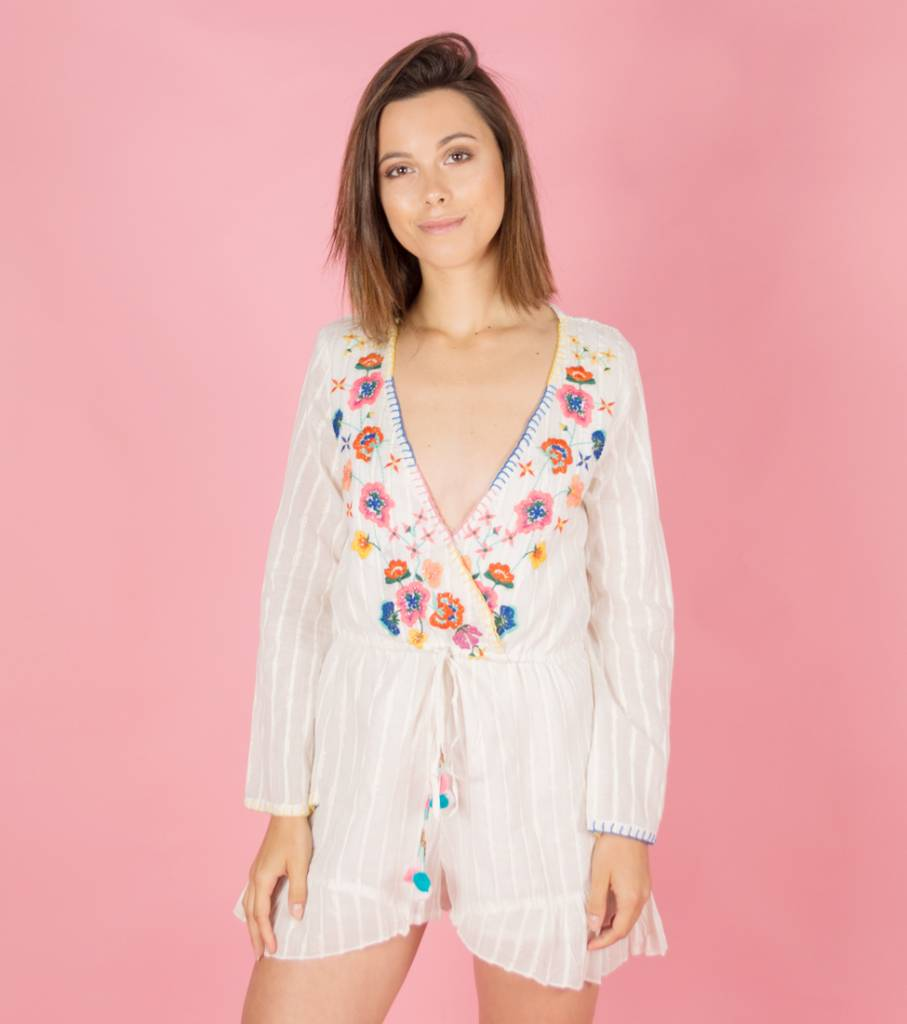 THE BRIGHTEST PLAYSUIT WHITE