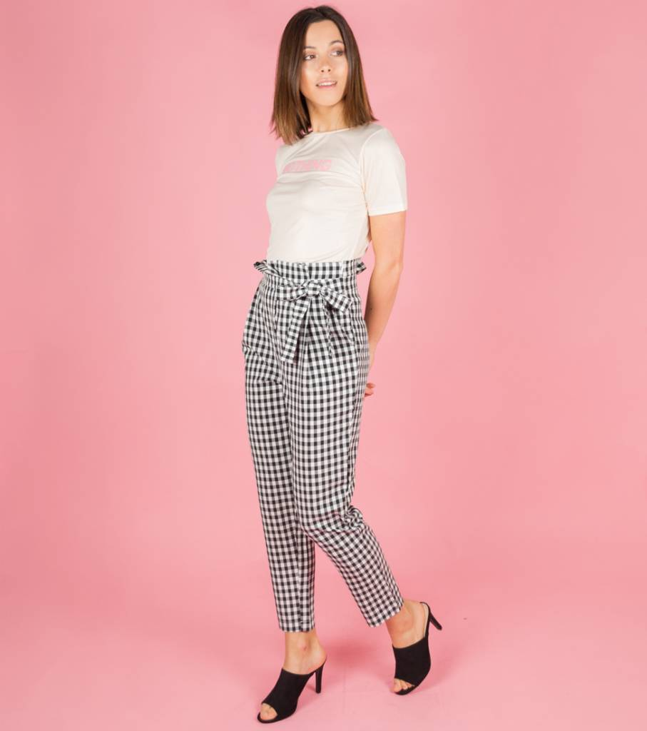 VICHY CHECKED TROUSERS