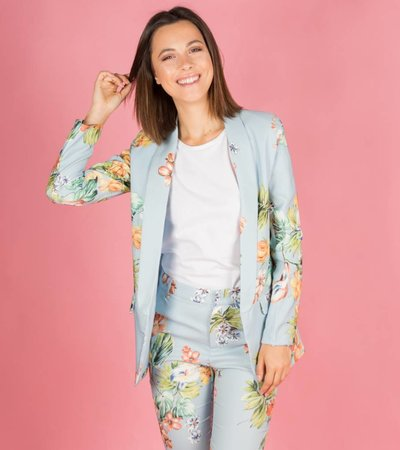 BLUE FLOWER COSTUME BLAZER