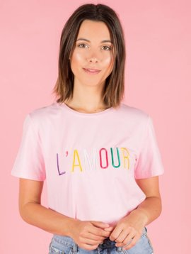 L AMOUR PINK TSHIRT