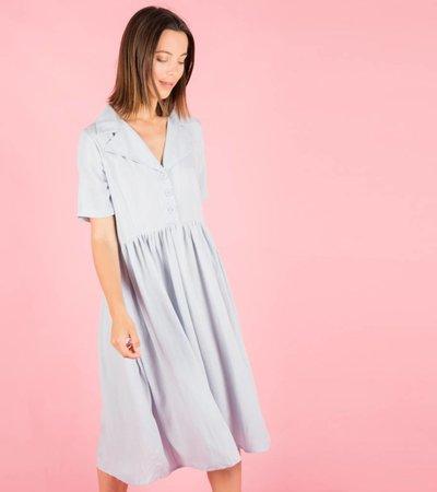 PASTEL CLASSY BLUE DRESS
