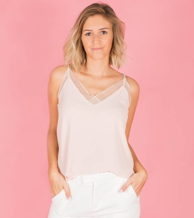 PASTEL LACE BASIC TOP PINK