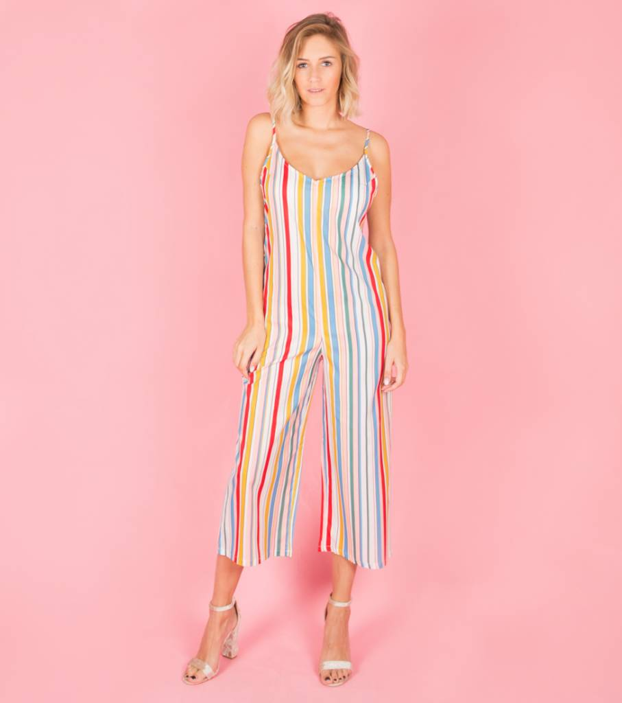 IMMERSE IN COLOUR STRIPED JUMPSUIT