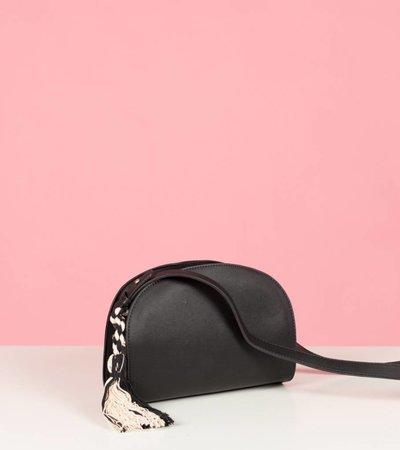 pom pom bag black