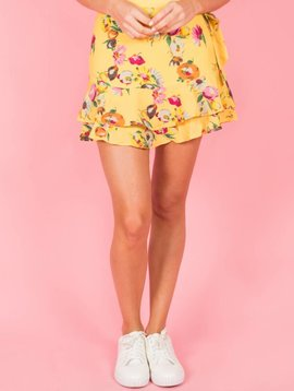 BRIGHT TROPICAL YELLOW BLOOM SKIRT
