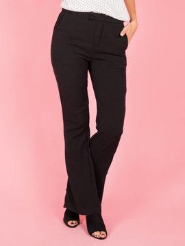 MEET ME BLACK FLARED TROUSERS