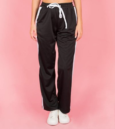 SPORTY SPICE BLACK TROUSERS