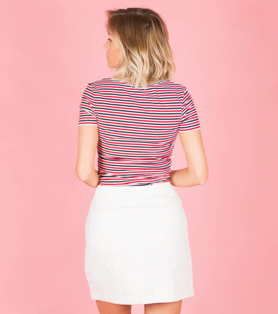 TIGHT AND STRIPED RED TSHIRT