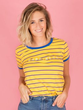 HAPPINESS STRIPED TSHIRT YELLOW