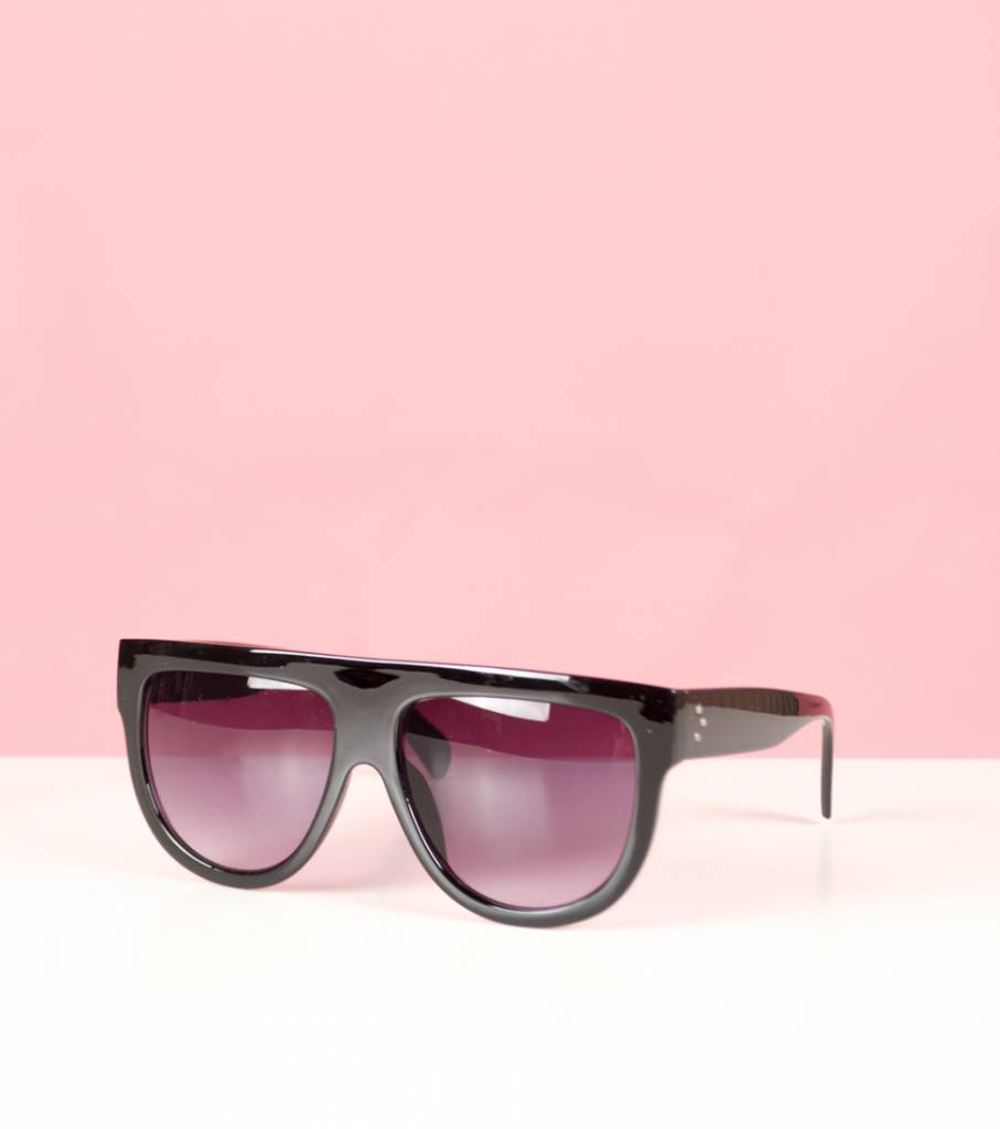 DOUBLE TOUCH BLACK GLASSES
